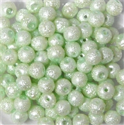25pc 6mm Glass Sugar Pearls Mint Green