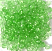 60pc 4mm Glass Round Peridot Green