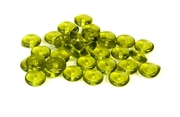 25pc 6mm olivine green czech glass rondelles