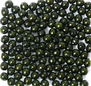50pc 4mm Glass Pearls Dark Green