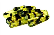 2pc jonquil tortoise czech glass rectangles 30x10mm