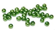 100pc 3mm glass pearls green