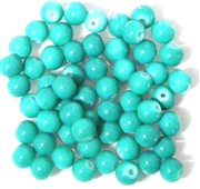 25pc 6mm Glass Round Teal Green