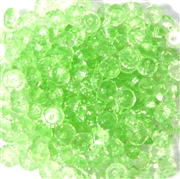 50pc 4mm Glass Firepolish Saucer Peridot Green