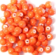25pc 6mm Glass Rounds Light Orange Opaque