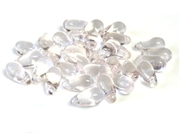 15pc czech glass teardrops rosaline pink 6x10mm