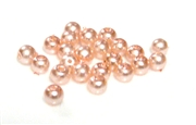100pc 3mm glass pearls rosaline pink