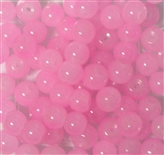 25pc 6mm Glass Rounds Milky Pink