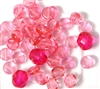 10pc 6mm Glass Coins Rose Pink