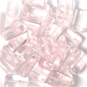 10pc Czech Glass Rectangles 8x13mm Rosaline Pink