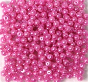 100pc 2mm Glass Round Pearls Hot Pink