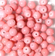 25pc 6mm Glass Rounds Light Pink