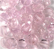 10pc 8mm Glass Faceted Coin Rosaline Pink