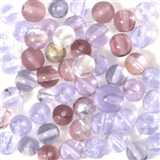 10pc 6mm Glass Rounds Assorted Purple