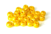 5gm 1/0 seed beads yellow luster