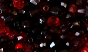 25pc czech glass firepolish mix dark red 4mm