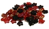 10pc czech glass flower mix red