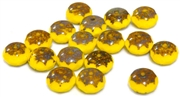 8pc czech glass large donut powder yellow