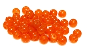 20pc 8mm glass rounds orange