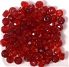 20pc 6mm Faceted Firepolish Donut Red