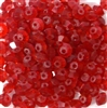 50pc 4mm firepolish rondelle siam red