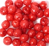 10pc 8mm Glass Sugar Pearls Red