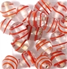 4pc 10mm Red Swirl Ovals