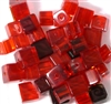 15pc 8mm Cubes Assorted Red