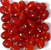 10pc 10mm Glass Ovals Red
