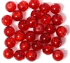 10pc 8mm Glass Crackle Rounds Red