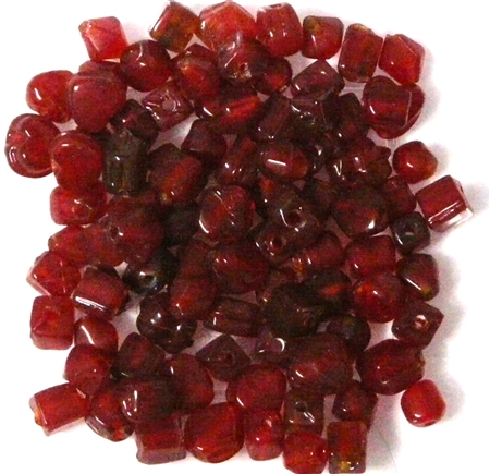 50pc 4mm Assorted Dark Red Beads