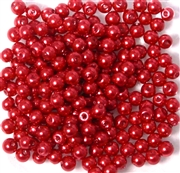 50pc 4mm Glass Pearls Red