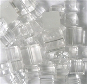 10pc 10-12mm Assorted Cube Mix Clear White