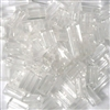 20pc 10x4mm Clear Tube Beads