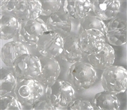 10pc 10mm Firepolish Donut Rondelles Clear Crystal