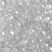 25pc 6mm Glass Rounds Clear Crystal