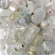 10pc Assorted Indian Glass White