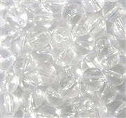10pc 8mm Glass Rounds Clear Crystal