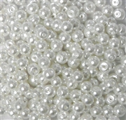 50pc 4mm Glass Pearl Rounds White