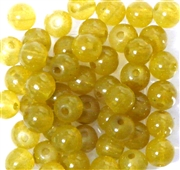 20pc 8mm Glass Rounds Yellow