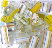 20pc Assorted Glass Cane Yellow Mix
