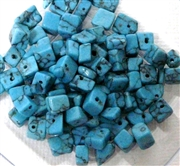100pc Gemstone Chips Turquoise Chalk 4-6mm