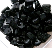 100pc Gemstone Chips Black Agate 4-6mm