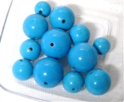 12pc Gemstone Chalk Turquoise Large rounds 8-12mm