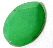 1pc Gemstone Green Oval Faceted 30x20mm