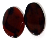 1pc Agate Oval Red 35x20mm