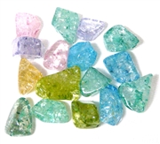 10pc Quartz Dyed Nugget Beads 10-15mm Assorted Colours