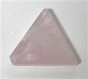 1pc Rose Quartz Faceted Triangle 26x32mm
