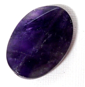 1pc Amethyst Faceted Oval 34x25mm