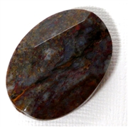 1pc Gemstone Faceted Oval Agate 35x24mm